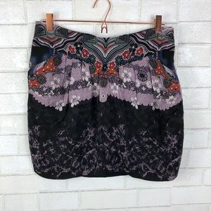 NWT Anthropologie Tibi Printed Silk Skirt